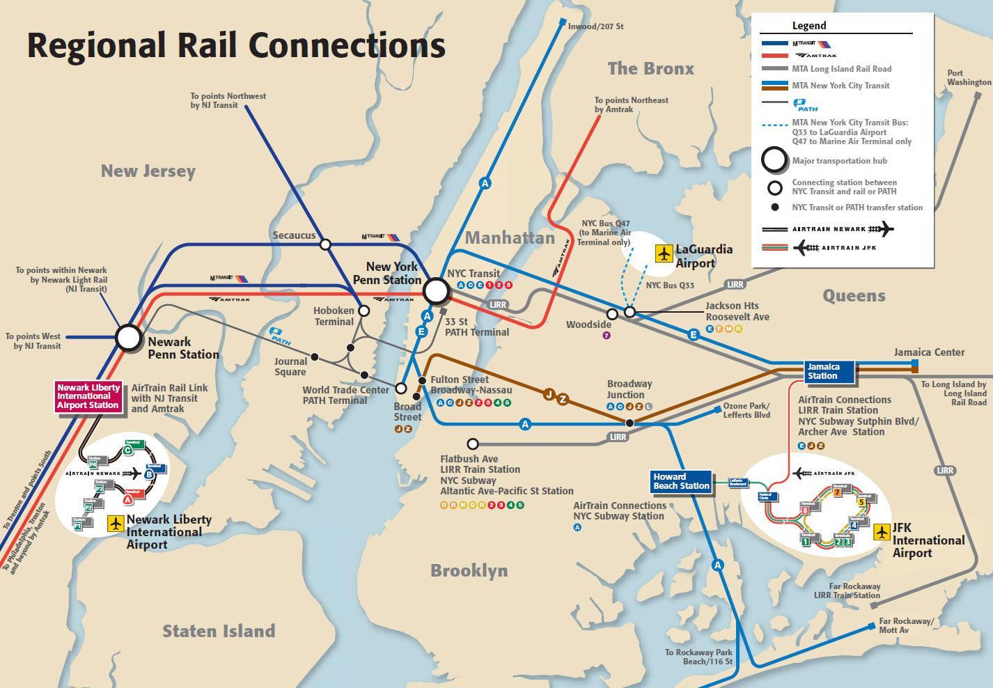 Jfk Airport La Manhattan Harta Metrou Jfk La Manhattan Harta